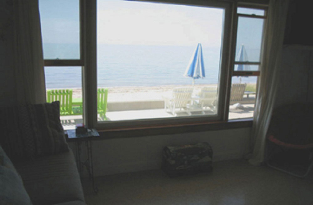 Beachfront studio condominium.