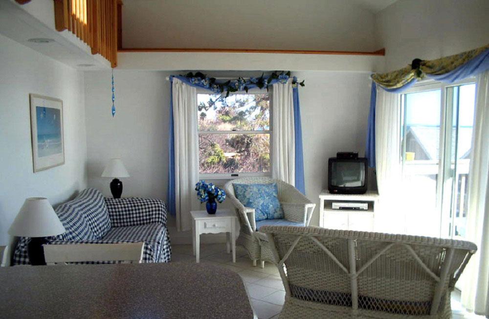 Raised deck 2 bedroom condominium.